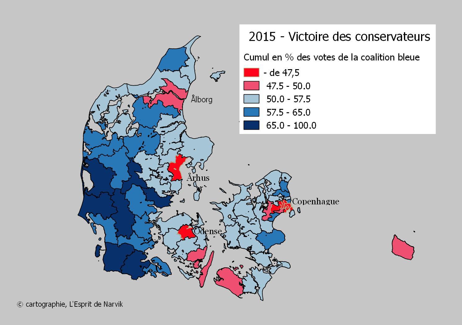 Elections législatives de 2015 au Danemark, la victoire de la coalition bleue